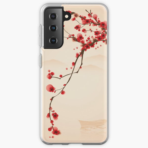 Whimsical Red Cherry Blossom Tree Samsung Galaxy Soft Case