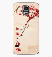 Whimsical Red Cherry Blossom Tree Case/Skin for Samsung Galaxy