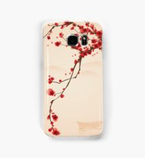 Whimsical Red Cherry Blossom Tree Samsung Galaxy Case/Skin