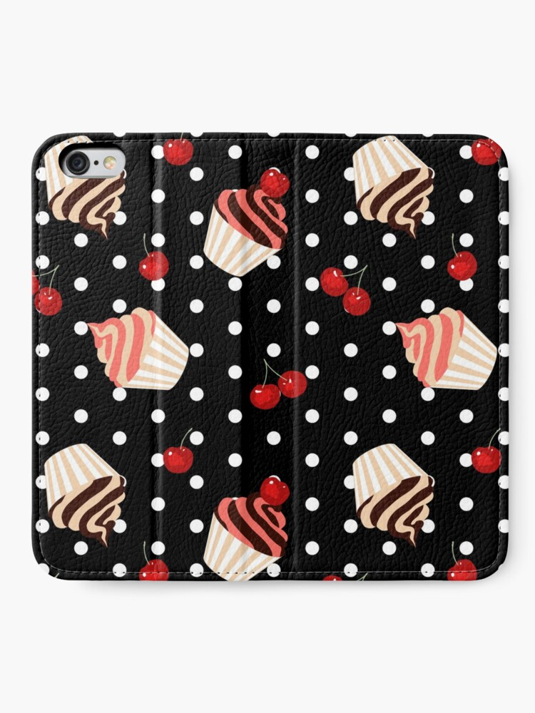 Alternate view of Rockabilly Cherry Cupcakes iPhone Wallet