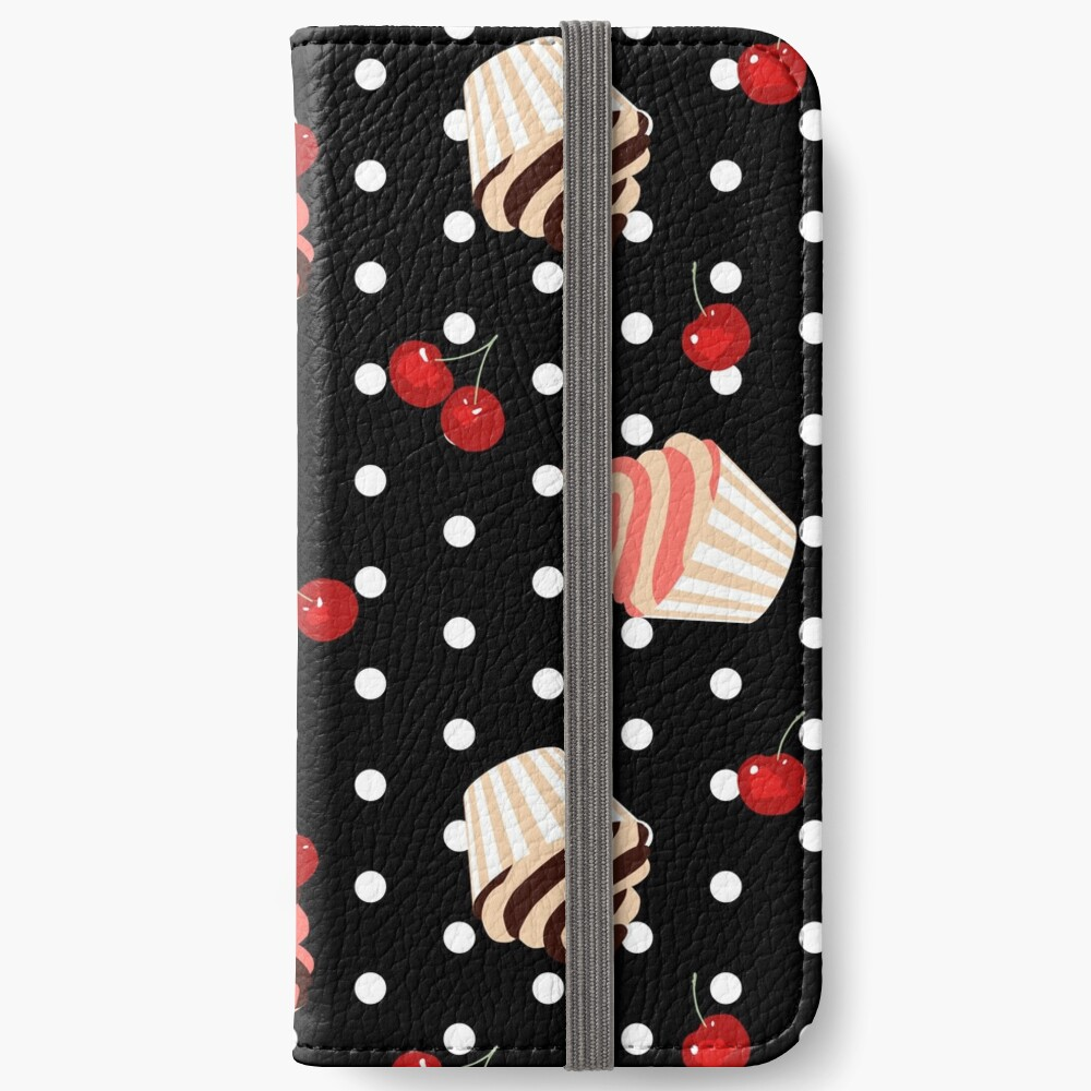 Rockabilly Cherry Cupcakes iPhone Wallet