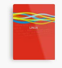 Linux Rainbow Metal Print