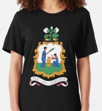 St Vincent and the Grenadines Coat of Arms Slim Fit T-Shirt