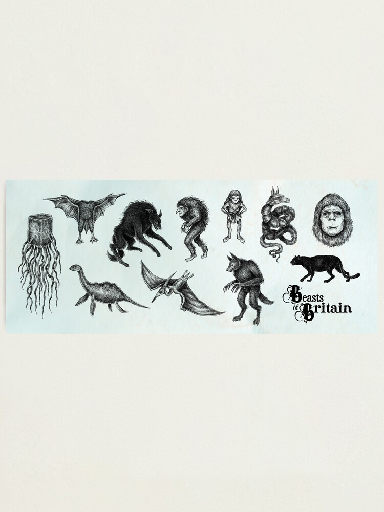 Alternate view of Beasts of Britain - Creature Feature Photographic Print