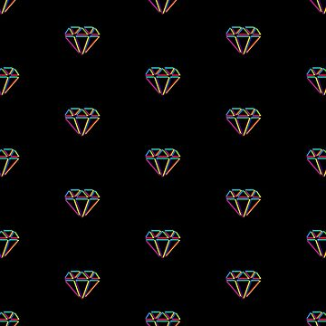 CMYK Diamond pattern (black) by animinimal