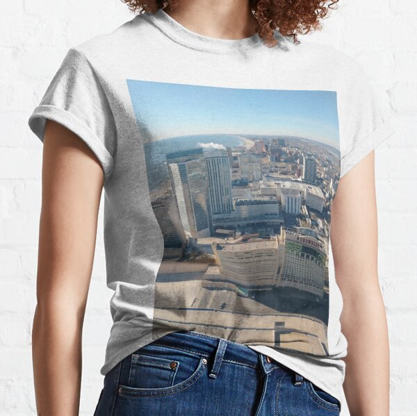 #AtlanticCity, #City, #architecture, #street, #buildings, #tree, #car, #pedestrian, #skyscraper, #evening, #sunlights Classic T-Shirt