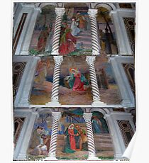 A Collage of Pictoral Scene Mosaics - Cathedral Basilica - St. Louis Poster