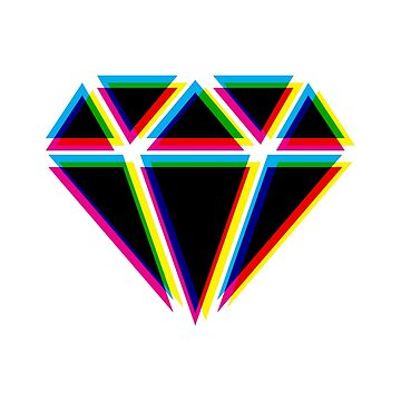 CMYK Diamond by animinimal