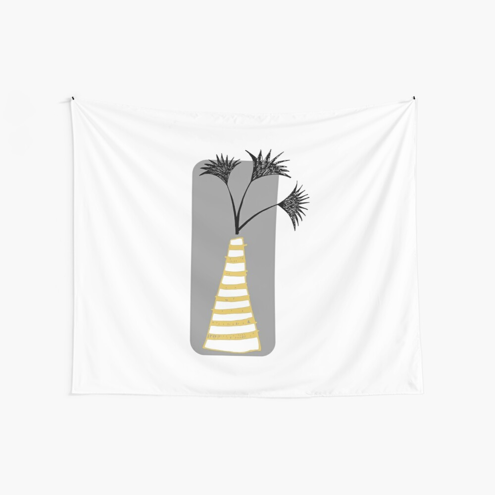 Palm Vase Wall Tapestry