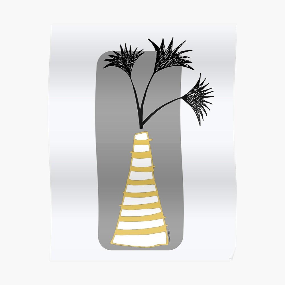 Palm Vase Poster