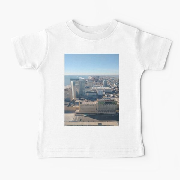 #AtlanticCity, #City, #architecture, #street, #buildings, #tree, #car, #pedestrian, #skyscraper, #evening, #sunlights Baby T-Shirt