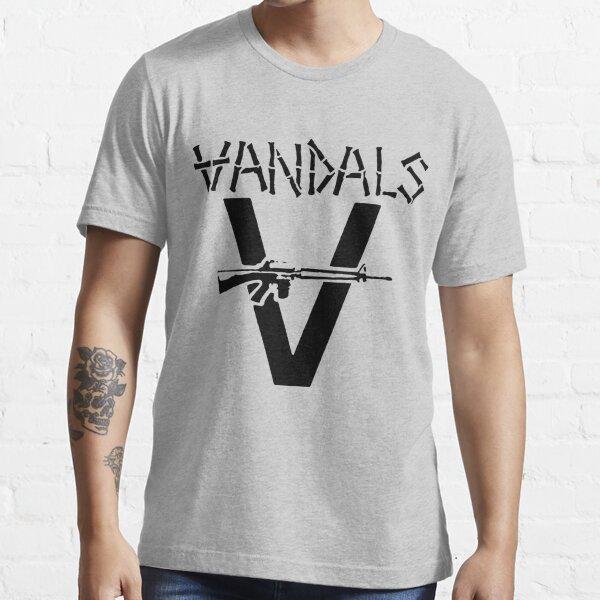 Band Stencil - Black - The Vandals Essential T-Shirt