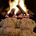Snuggling Teddy Bears by Maria Dryfhout