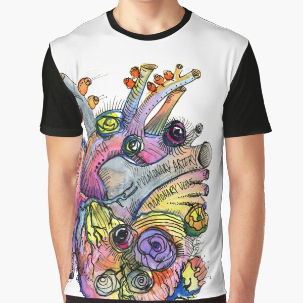 Biotic Aortic - Heart with Blooms Graphic T-Shirt
