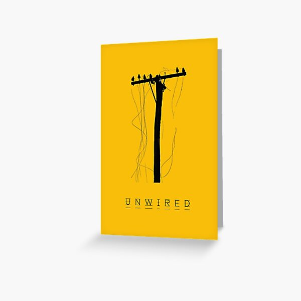 Unwired Outback Telephone Pole Greeting Card