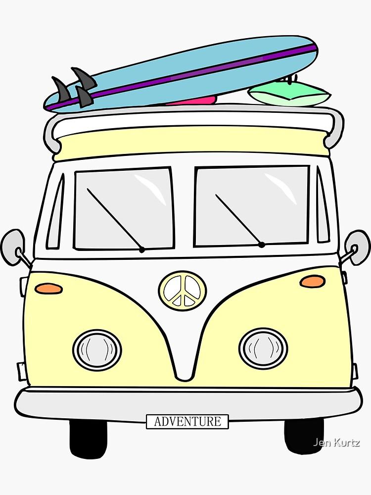 """""""Aventura"""" amarilla Hippie Van de jenk370"""
