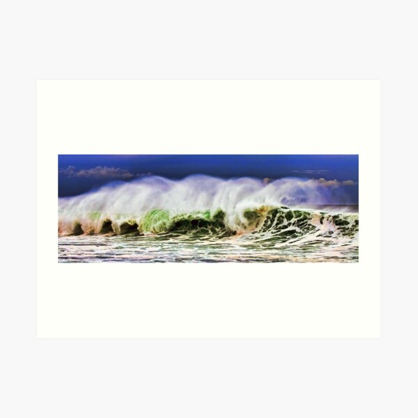 Ocean Power Wave Art Print
