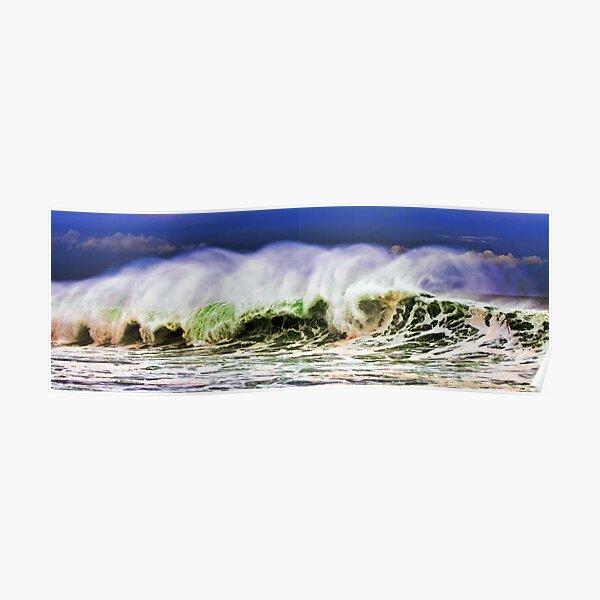 Ocean Power Wave Poster