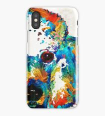 Colorful Poodle Dog Art by Sharon Cummings iPhone Case