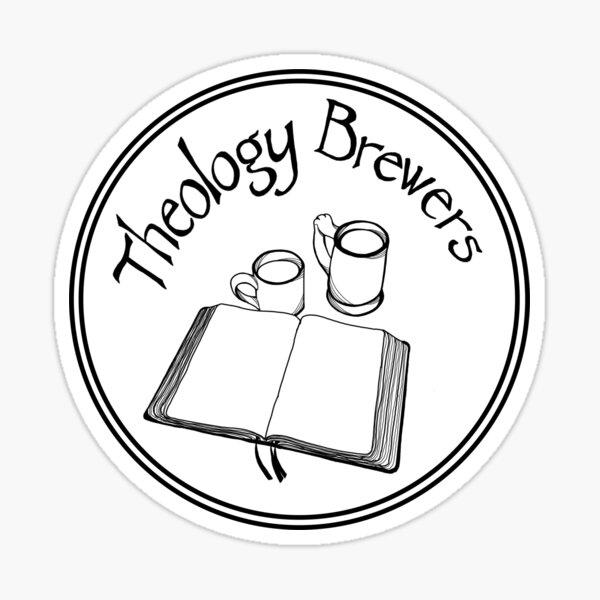 Theology Brewers Logo Circle - Black Sticker