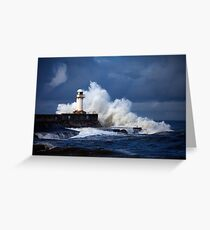 South Gare (Stormy) Greeting Card