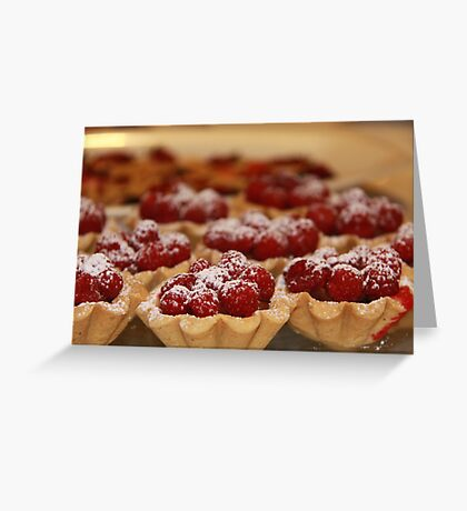 Home made raspberry tarts Greeting Card