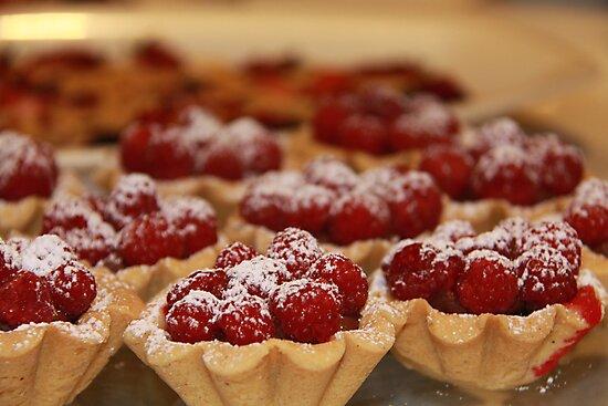 Home made raspberry tarts by Hege Nolan