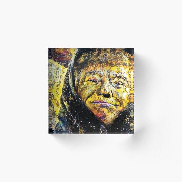 Comfy Trump - Golden GEOTUS Edition Acrylic Block