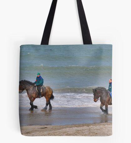Straô horses in the North Sea Tote Bag