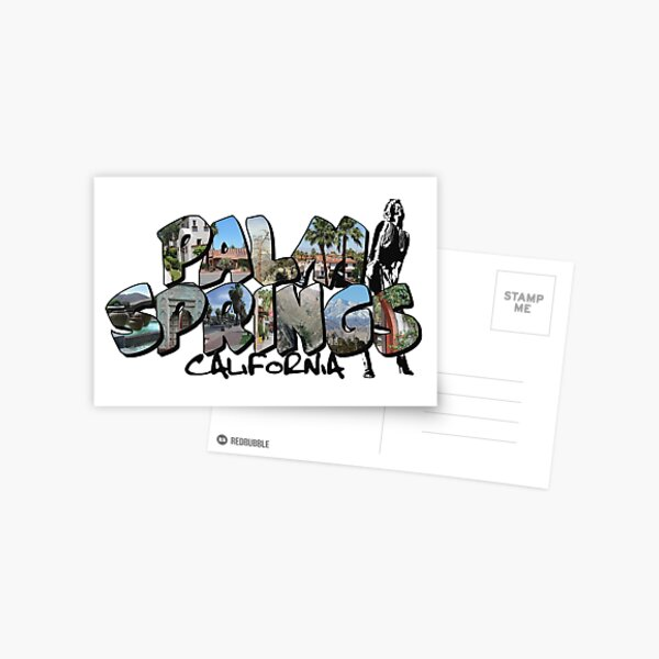Big Letter Palm Springs California Postcard