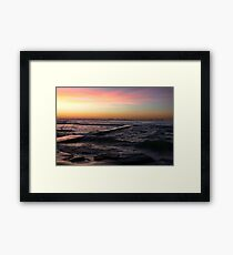 Sunrise at Bar Beach Newcastle Framed Print