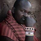 Masai  Warrior in Africa by maureenclark