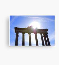Temple of Saturn, Roman Forum, Italy Canvas Print