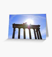 Temple of Saturn, Roman Forum, Italy Greeting Card