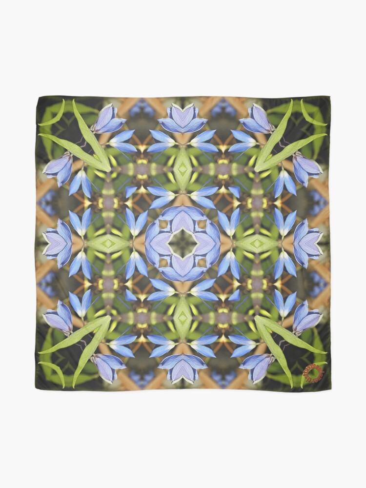 Alternate view of D1G1TAL-M00DZ ~ FLORAL ~ Dainty Bluebells 3 by tasmanianartist 230119 Scarf