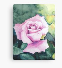 Elegant Living with a Powder Pink Rose Canvas Print