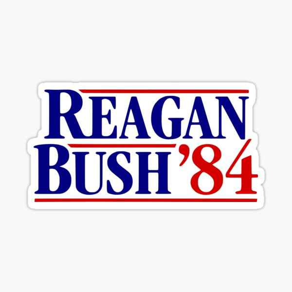 Reagan Bush '84 Campaign Sticker Sticker