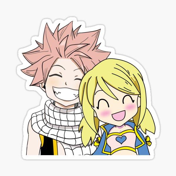Natsu x Lucy Chibi Sticker