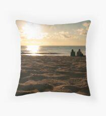 Watching the Sun Go Down Throw Pillow
