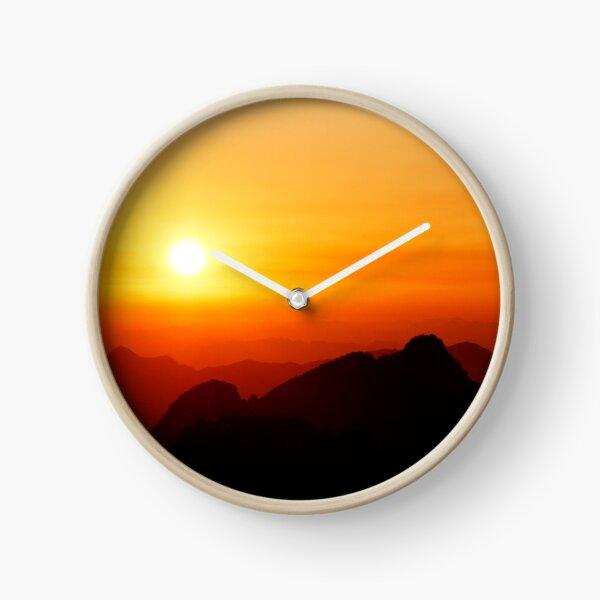 Sunrise from Huangshan Clock