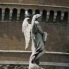 angel and friend on Ponte Saint Angelo, Rome by BronReid