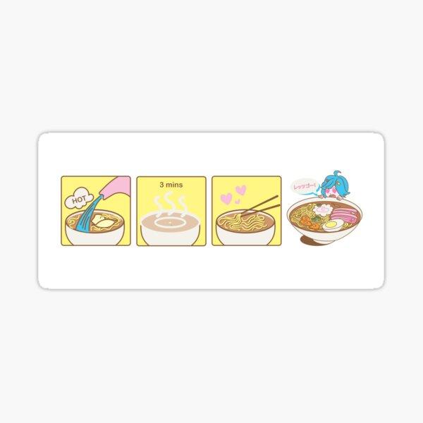 How to Ramen Mug Sticker