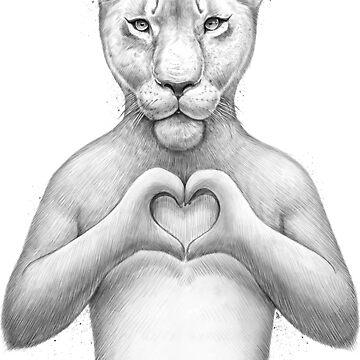 Niña leon con corazon de NikKor