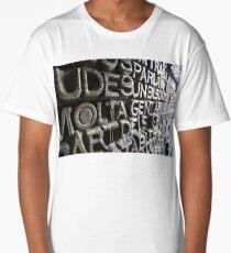 Iron Words Long T-Shirt