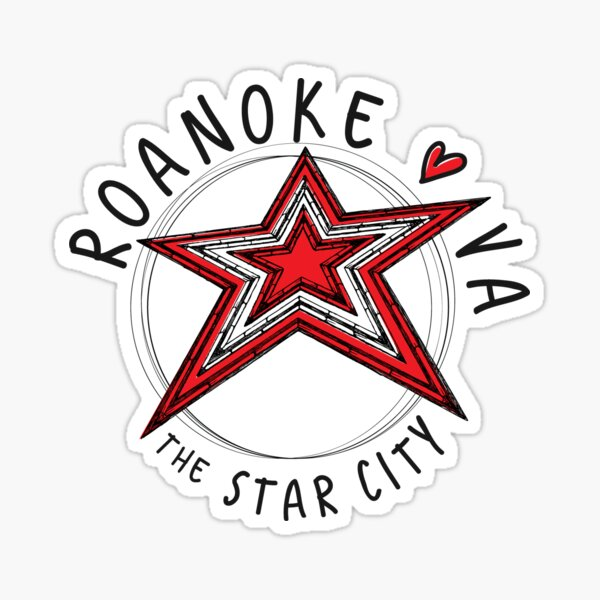 Roanoke, VA... The Star City Sticker