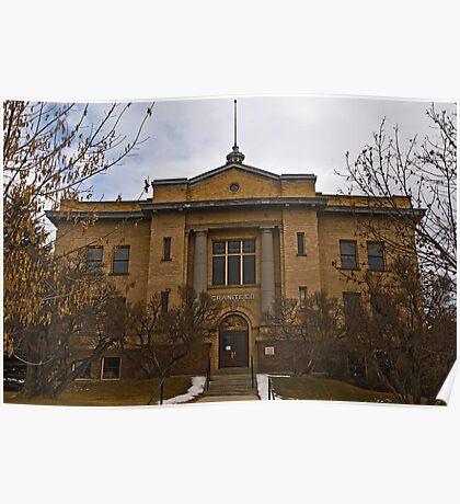 Granite County Montana Court House Poster