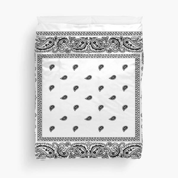Bandanna White Duvet Cover