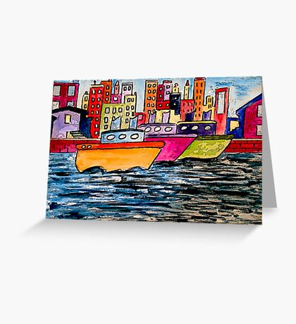 Tugboats Online Greeting Card