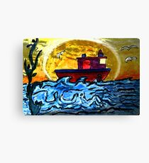 Sunset Tugboat Canvas Print