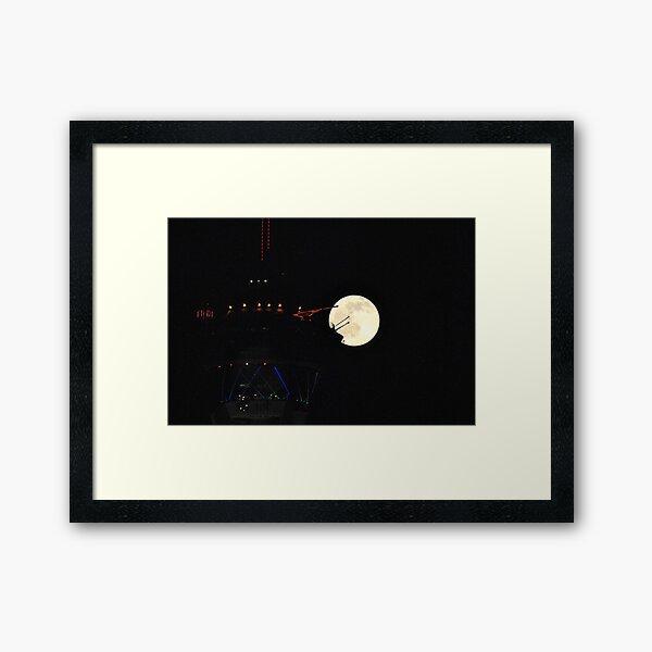 Full Moon & Stratosphere Tower Framed Art Print